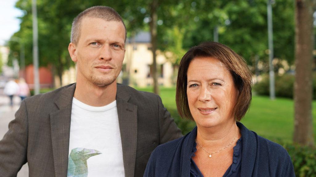 Halvporträtt Rickard Mårtensson och Susanne Norberg från Falu kommun.