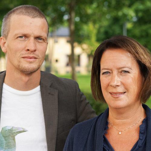 Rickard Mårtensson och Susanne Norberg från Faluns kommun